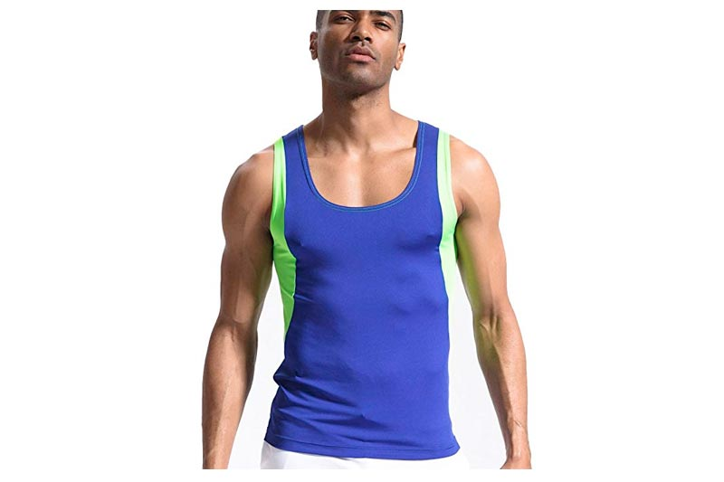 Men's Tank Tops Sleeveless Shirts Stringer DRI-FIT for Workout Gym Running Fitness Bodybuilding Weight Loss