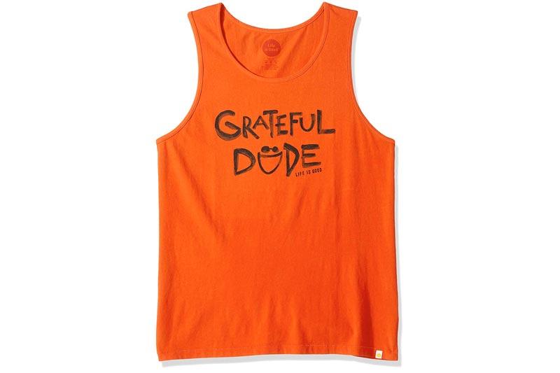 Life is Good Mens Surfer Tank Grateful Dude