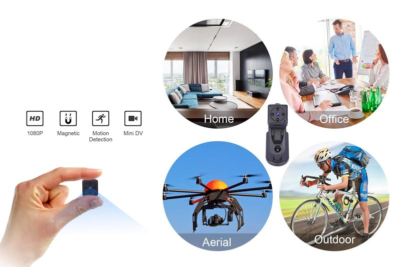 Mini Spy Hidden Camera,NIYPS 1080P Portable Small HD Nanny Cam with Night Vision and Motion Detective,Perfect Indoor Covert Security Camera for Home and Office