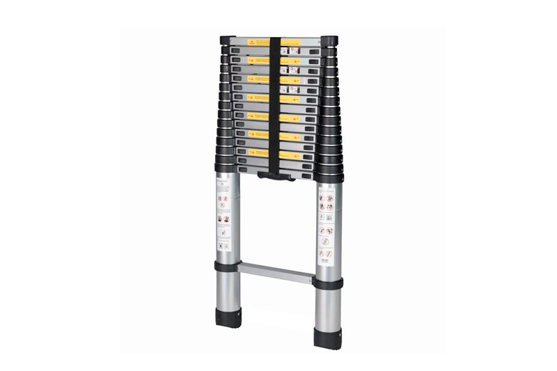 GOOD LIFE 15.5' FT Telescopic EN131 Professional Folding Aluminum Multi Purpose Telescoping Ladder Extension Ladder with Spring Loaded Locking HMI023
