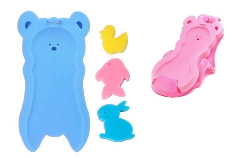 Shoresu Newborn Anti-Slip Sponge Pad Baby Bath Tub Bathing Pad Infant Shower Baby Care Blue