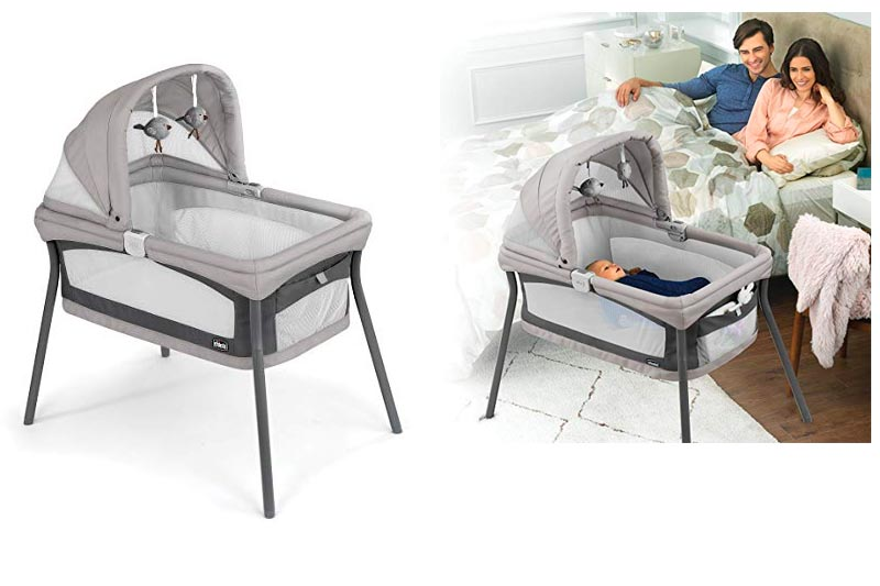 Chicco LullaGo Nest Portable Bassinet, Vanilla