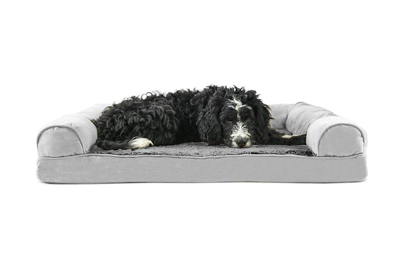 Furhaven Pet Dog Bed | Orthopedic Ultra Plush Sofa-Style Couch Pet Bed for Dogs & Cats Sizes