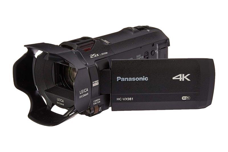 "PANASONIC HC-VX981K 4K Camcorder, 20X Leica DICOMAR Lens, 1/2.3"" BSI Sensor, 5-Axis Hybrid O.I.S, HDR Mode, WiFi Smartphone Twin Video Capture (USA Black)"