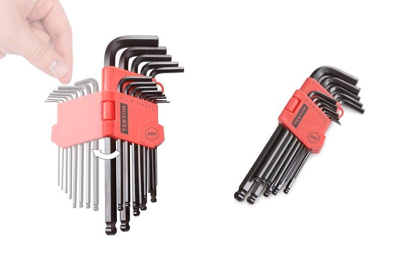 TEKTON Long Arm Ball End Hex Key Wrench Set, Metric, 13-Piece | 25272