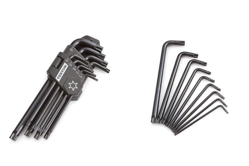 TEKTON Long Arm Star Key Wrench Set, T10-T50, 9-Piece | 25291