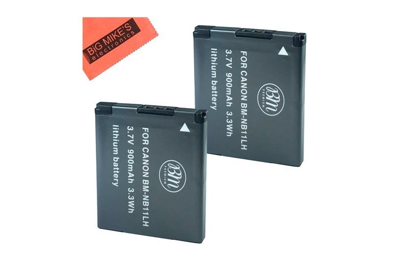 BM Premium 2 Pack Of NB-11L, NB-11LH Batteries for Canon PowerShot Elph 110,
