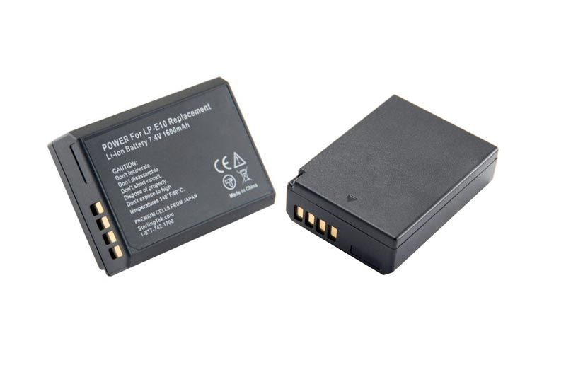 STK Canon LP-E10 Battery 1600mAh for Canon Eos Rebel T6, T5, 1300D, T3, EOS 1200D, 1100D, Kiss X70, and X50 Digital Cameras