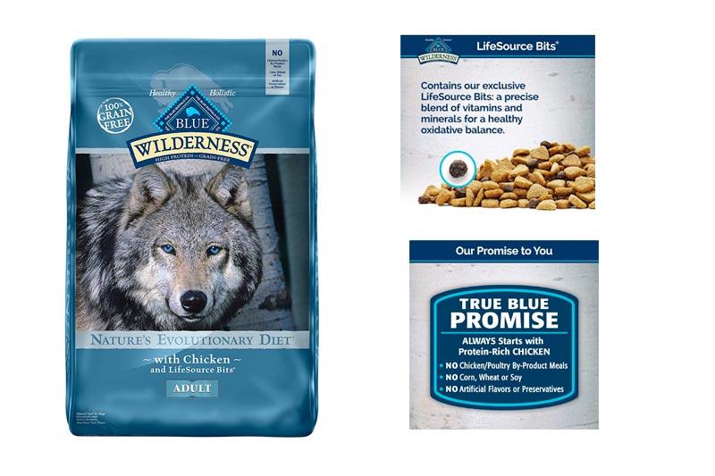 BLUE Wilderness High Protein Grain Free Adult Dry Dog Food Chicken