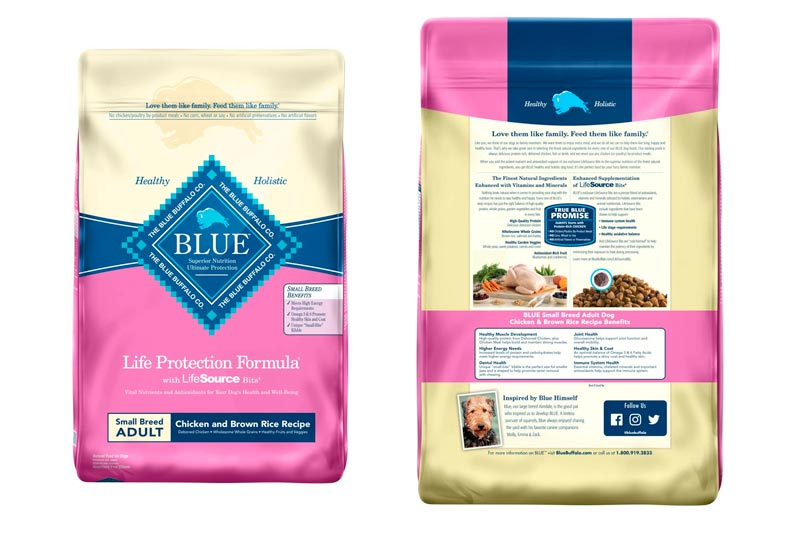 Blue Buffalo Life Protection Formula Natural Adult Dry Dog Food Small Breed Chicken & Brown Rice
