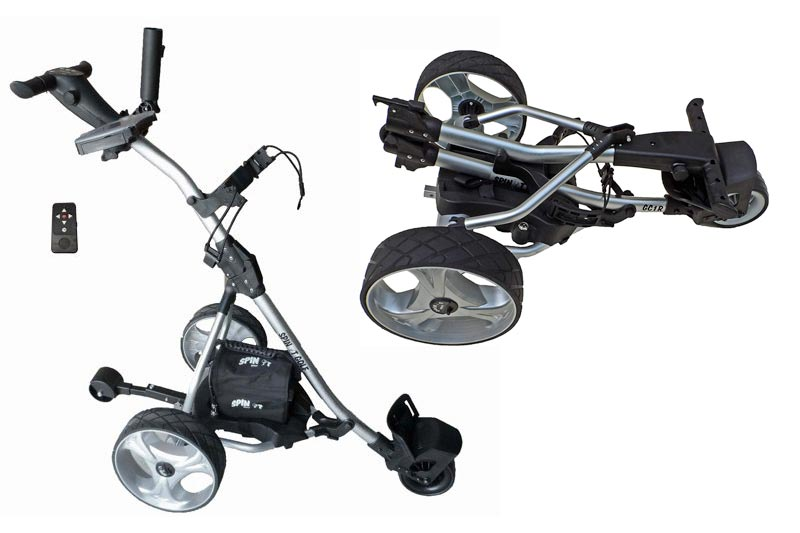 """Spin It Golf Products GC1R """"Easy Trek"""" Remote Controlled Electric Golf Cart, Silver"""