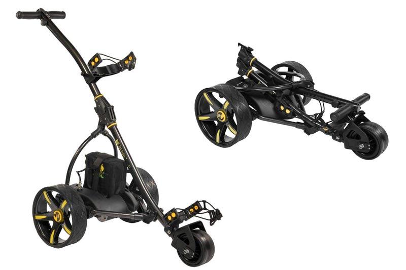 Bat Caddy X3 BLACK Manual Electric Golf Bag Cart Caddy w/ 33Ah Battery
