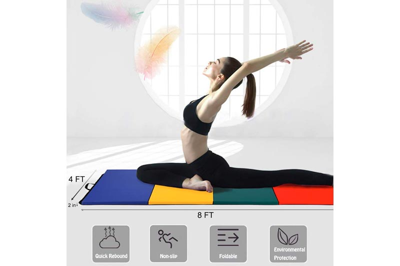 BestMassage 4'x8'x2 Gymnastics, Tumbling, and Fitness Exercise Mat R4CM