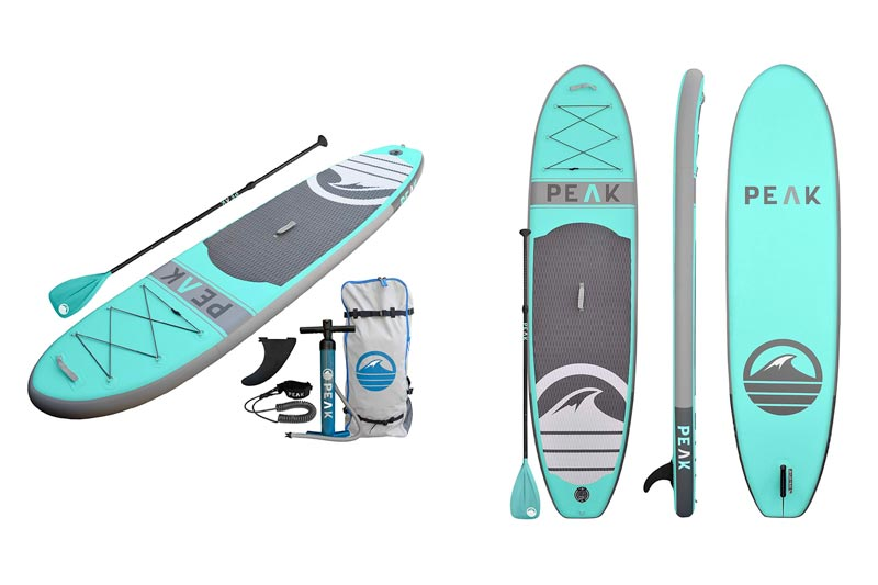 """PEAK Paddle Boards PEAK Inflatable 10'6 All Around Stand Up Paddle Board Complete Package (6"""" Thick) 