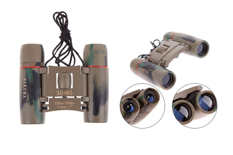 Chinatera Day Night Vision 30 x 60 Zoom Travel Folding Binoculars Telescope + Case