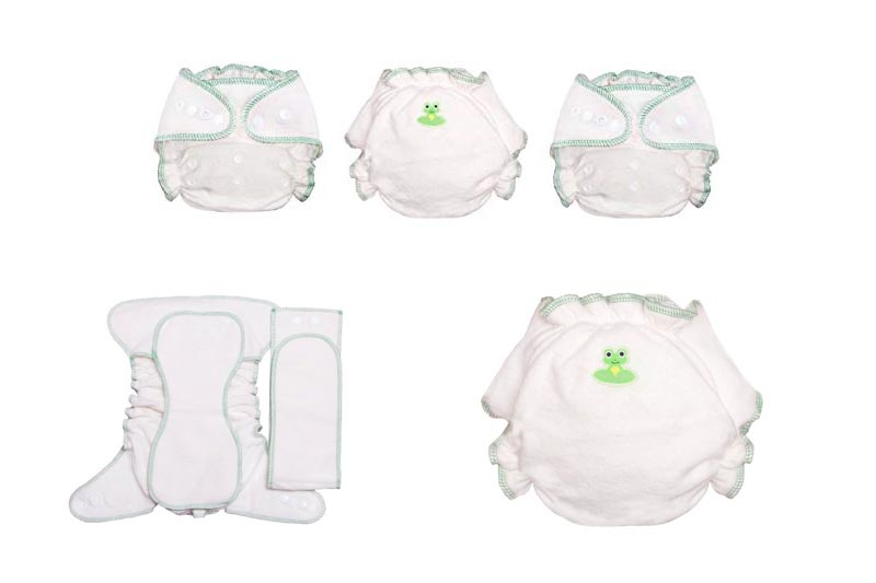 Coquí Baby Bel Canto 2.0 Hemp & Organic Cotton One-Size Fitted Cloth Diaper (3-Pack)