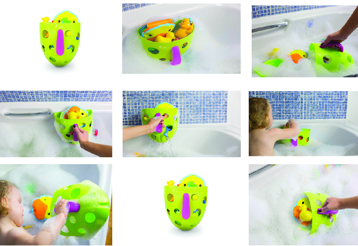 CLEARANCE SALE Premium Kids Bath Toy Storage Organizer | Quickly Tidy Toys | Easy Installation | No Mold & Mildew Build Up | Use As A Fun Toy Too | Ideal Gift | 100% Infinity Guarantee |